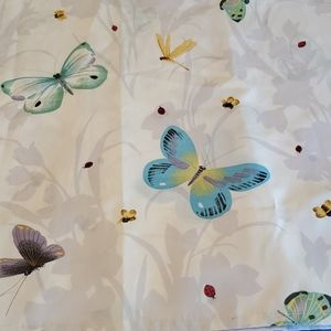 Material washable butterfly shower curtain